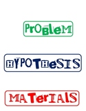 Science Fair Labels - Funky Font 2