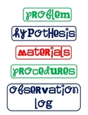 Science Fair Labels - Funky Font