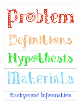 Science fair labels for poster by caroline sweet tpt for Science fair labels templates