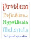 Science Fair Labels for Poster