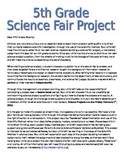 Science Fair Letter to Parents