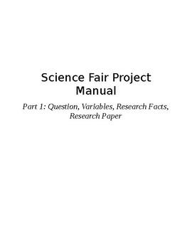 Science Fair Manual (Part 1 of 3)