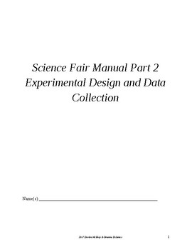 Science Fair Manual (Part 2 of 3)