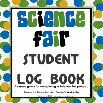 Science Fair Notebook Log Book