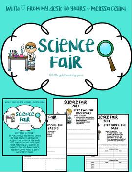 Science Fair Organization Packet -EDITABLE