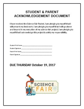 Science Fair Packet