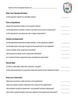 Science Fair Packet-All forms Needed (ALL INCLUSIVE)-Scientific Method