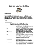 Science Fair Parent Letter