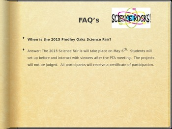 Science Fair Parent Meeting (Editable)