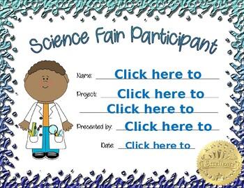 Science Fair Participant boy 1