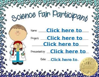 Science Fair Participant boy 2