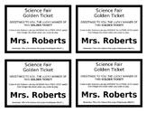 Science Fair Participants Golden Ticket