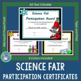 Science Fair Certificates