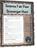 Science Fair Peer Scavenger Hunt Activity