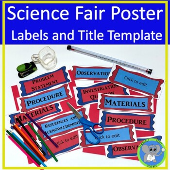Science fair project labels and editable title template tpt for Science fair labels templates