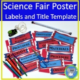Science Fair Project Organization   Poster Labels And Editable Title Template