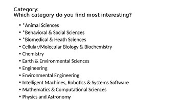 Science Fair PowerPoint