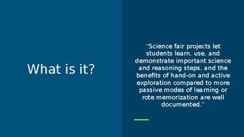 Science Fair Powerpoint - a parent aid