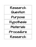 Science Fair Presentation Board Labels