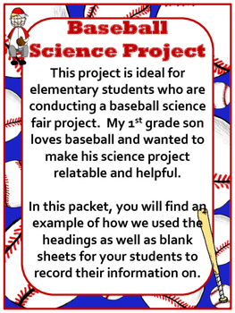 Science Fair Project Baseball Theme Hypothesis Question And More