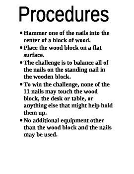 Science Fair Project (Balance/Gravity)
