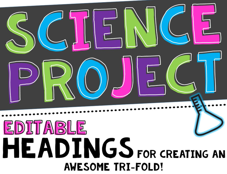 science fair project headers and decor