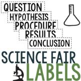 Science Fair Project Labels