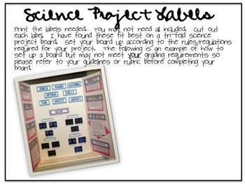 Science Fair Project Labels {BLACK CHEVRON} --- with EDITABLE Title Labels