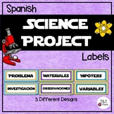 Science Fair Project Labels - Etiquetas para proyecto de Feria Científica