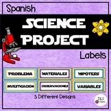 Science Fair Project Labels - Etiquetas para proyecto de Feria Científica
