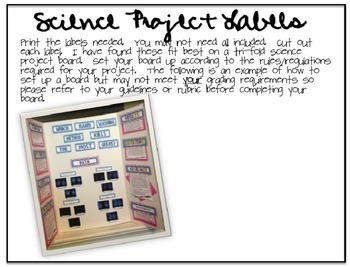 Science Fair Project Labels {RED CHEVRON} --- with EDITABLE Title Labels