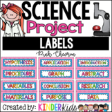 Science Fair Project Labels Pink Chevron --- with EDITABLE Title Labels