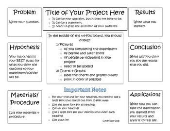 Science Fair Project Organizational Tools