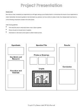 Science Fair Project Planner - EDITABLE