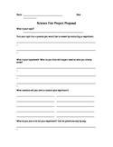 Science Fair Project Planning Sheet