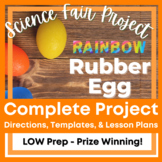 Science Fair Project - Rainbow Rubber Egg with 5 Day Lesson Plans
