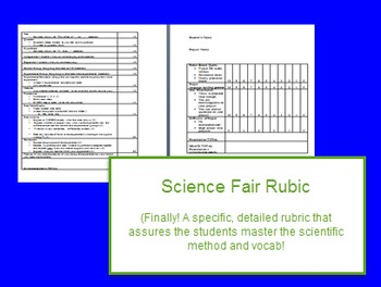 Science Fair Project Rubric