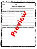 Science Fair Recording Sheet