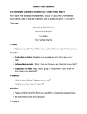 Science Fair Report Guidlines