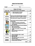 Science Fair Rubric- with pictures