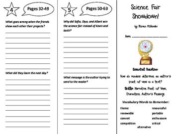Science Fair Showdown Trifold - ReadyGen 6th Grade Unit 2