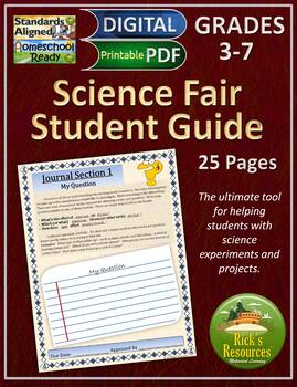 Science Fair Projects Interactive Notebook - Editable