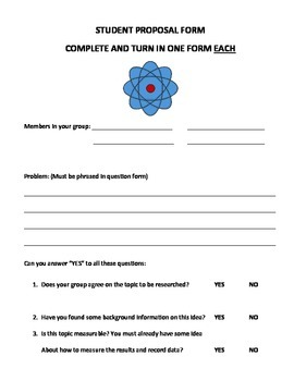 Science Fair Student Packet