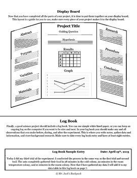 Science Fair - Student Project Guide Printable and PPT