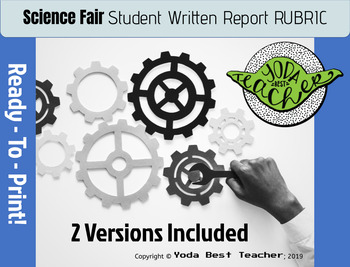 Science Fair: Student Written Report RUBRIC