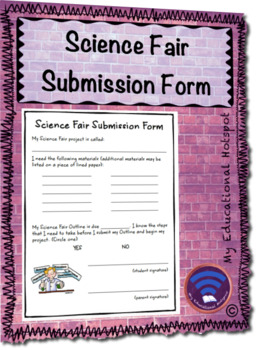 Science Fair Submission Form Template