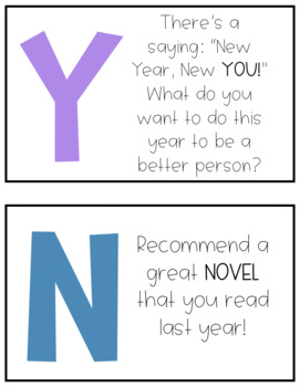 Happy New Year Task Cards