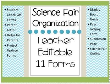 Science Fair Teacher Forms BUNDLE