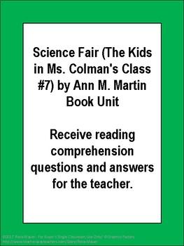 Science Fair (The Kids in Ms. Colman's Class #7) by Ann M. Martin Book Unit