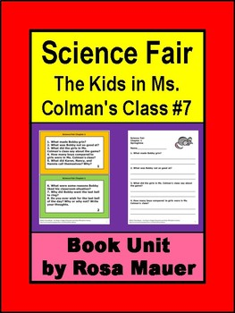 Science Fair (The Kids in Ms. Colman's Class #7) by Ann M. Martin Book Unit
